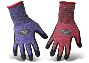GLOVES, DOTTED NITRILE LADIES
