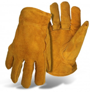 GLOVES, PILE INSULATE SPLIT LEATHER