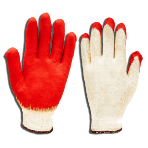 GLOVES,WHT STRING W/RUBBER PALM