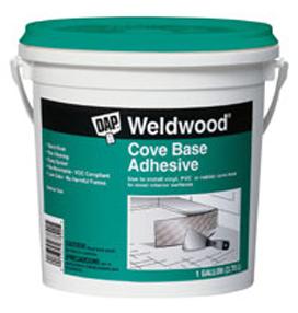 DAP WELDWOOD COVE BASE ADHESIVE