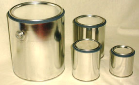 LINED EMPTY ROUND CAN