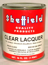 SHEFFIELD CLEAR LACQUER
