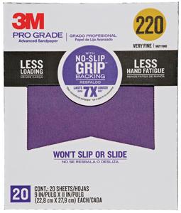 NO-SLIP BACKING SANDPAPER