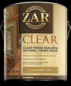 ZAR CLEAR SEALER & TONER
